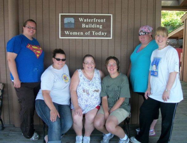 Painting the Boathouse at Camp Friendship Located in Annandale Minnesota 7-28-12